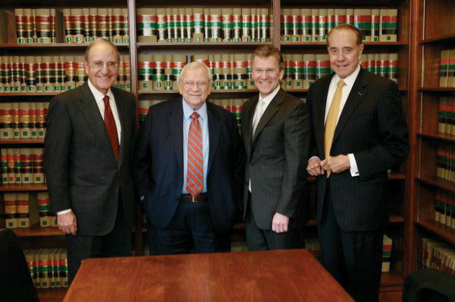 Senator Baker, along with the other founders of the Bipartisan Policy Center: George Mitchell, Tom Daschle, and Bobe Dole.