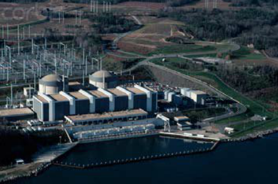 Calvert Cliffs nuclear Power Plant, located on the shores of the Chesapeake bay in Maryland