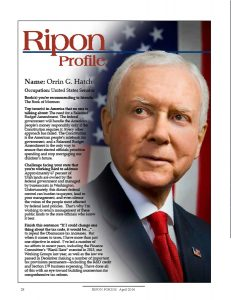 Ripon Profile of Orrin Hatch