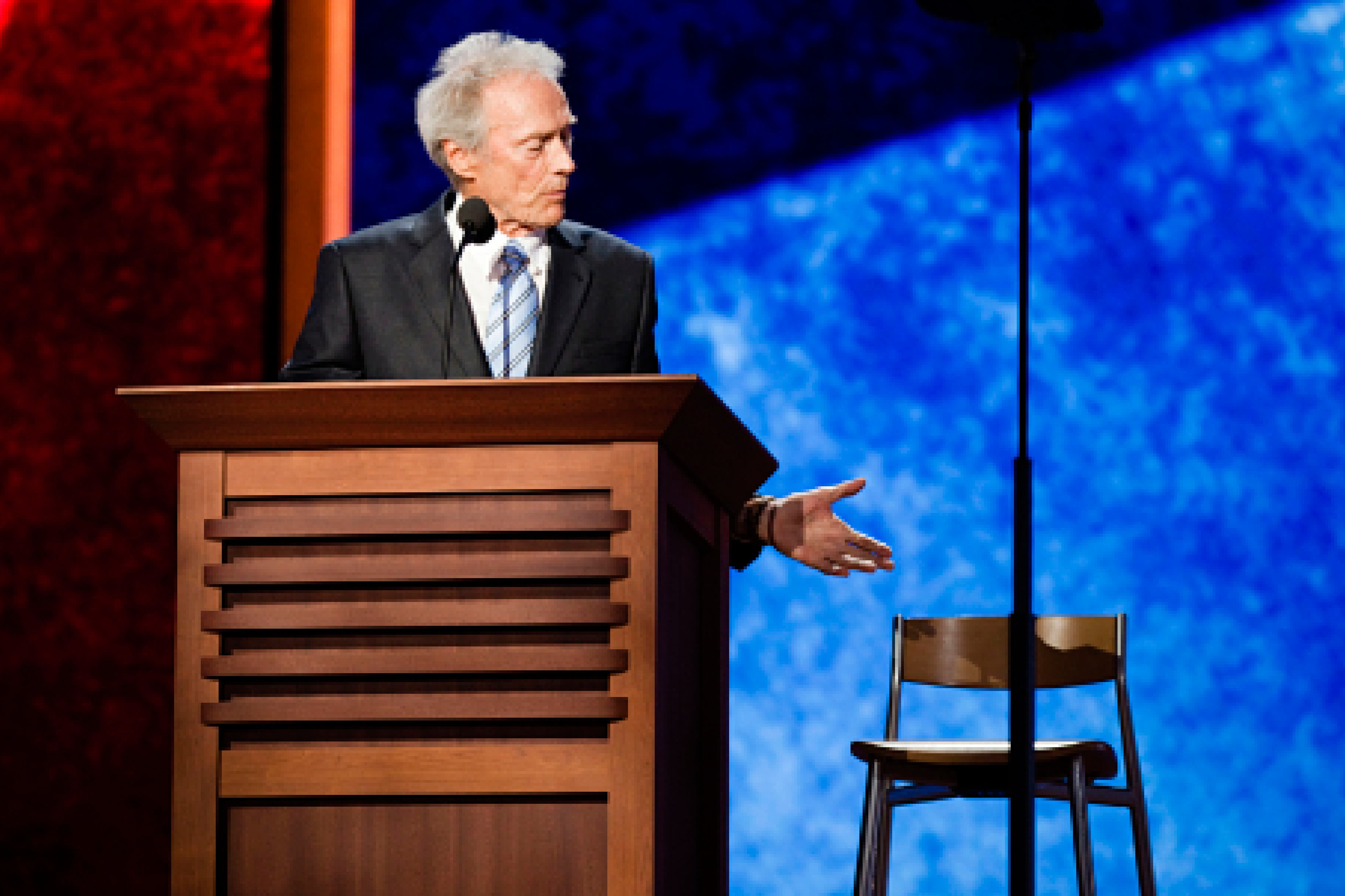 Clint Eastwood & the empty chair