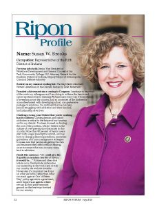 Ripon Profile of Susan Brooks