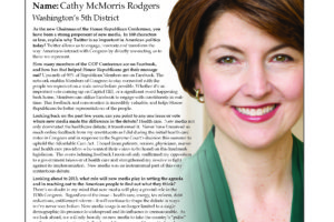 Ripon Profile of Cathy McMorris Rodgers