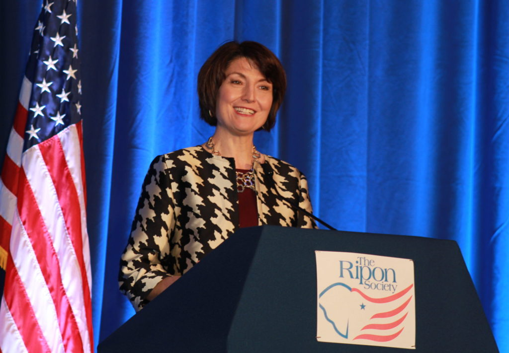 Rep. Cathy McMorris Rodgers speaks at the Ronald Reagan Presidential Library